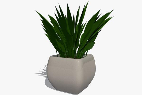 plant pot 3d dxf