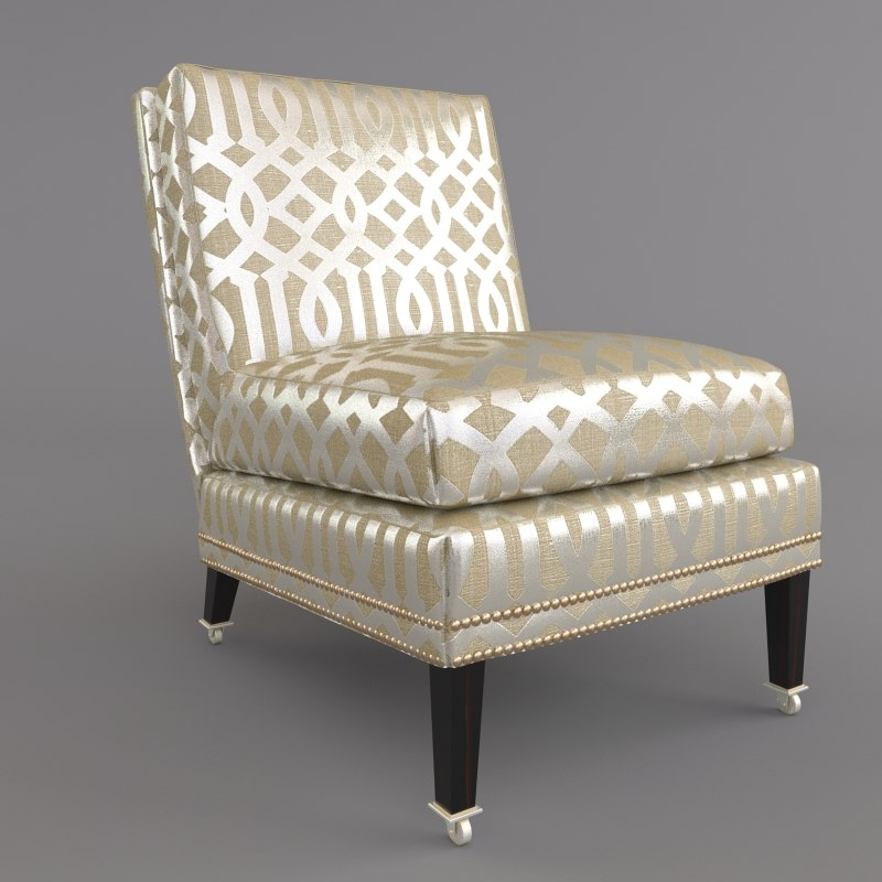 3d slipper cate chair model