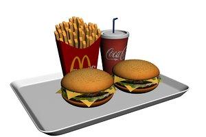 mcdonalds meal 3d model