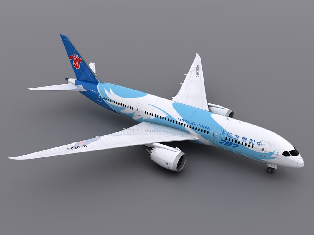 aircraft china southern 3d max