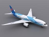 aircraft china southern 3d max