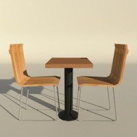 low-poly chair 3d max
