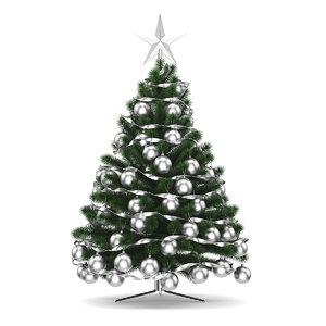 3d tree christmas model