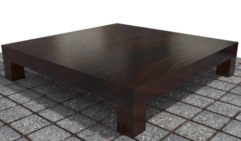 3d model wood table