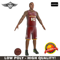 3d model of basketball player character