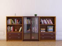 3d bookcase 15 bookshelf books