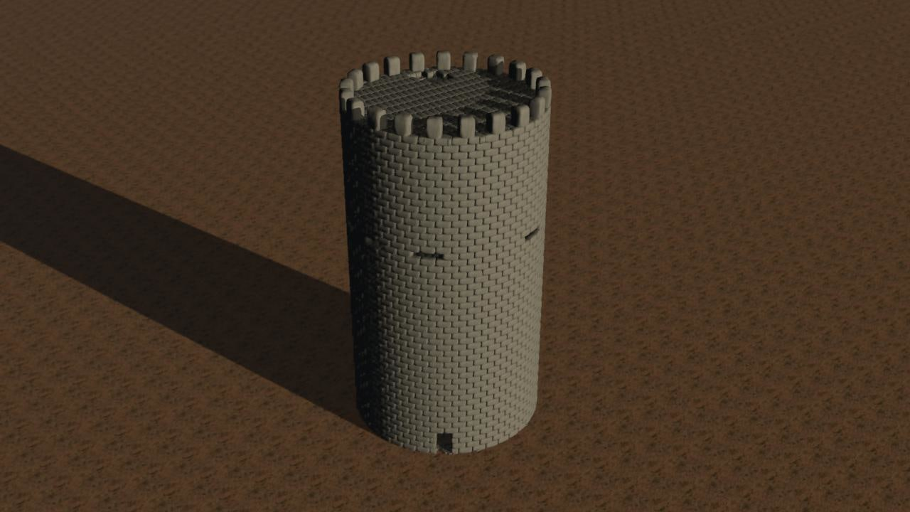 middle ages tower 3d model