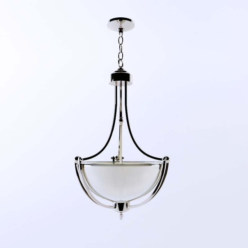 max delray polished chrome pendant