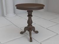 3d wooden antique table