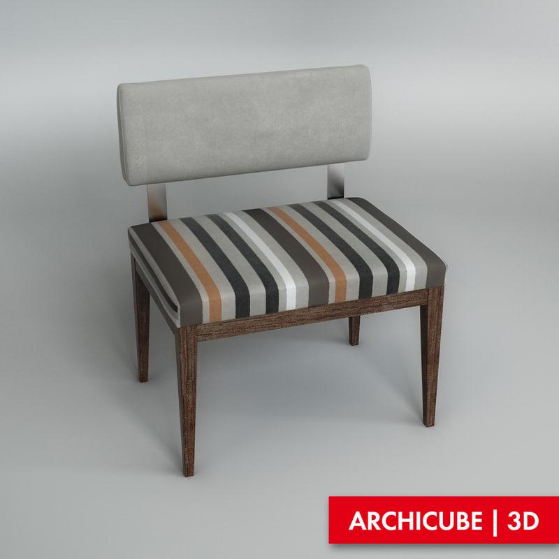 bench 3d fbx