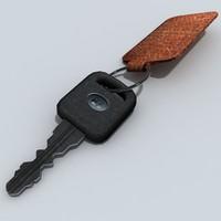 3d car keys