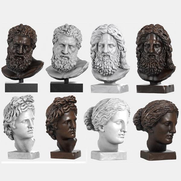 max classical head sculptures