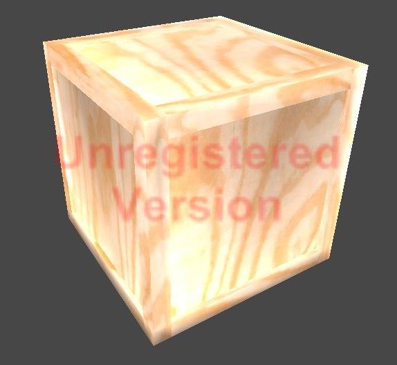 3d wood crate