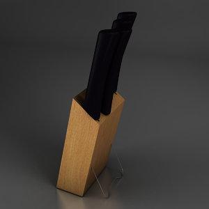 3d model knives