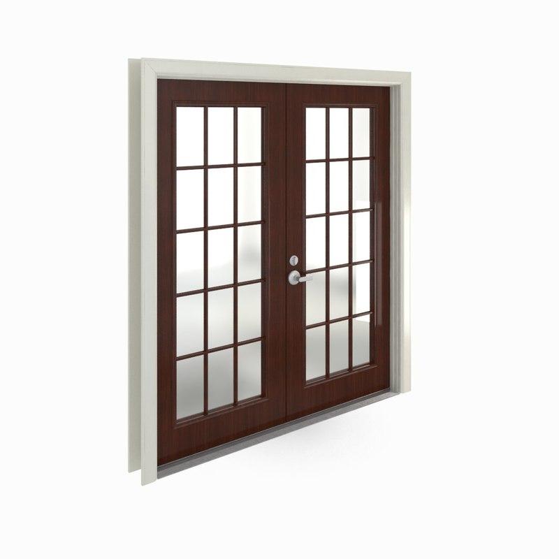 french doors 3d model