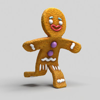 3d model gingerbread cookie