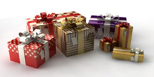 gift box 3d 3ds
