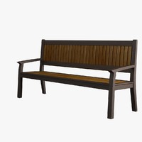 3d model garden bench