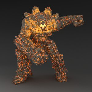rigged character animation golem max