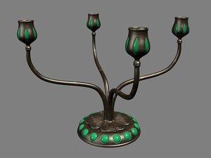 3d brass candelabra model