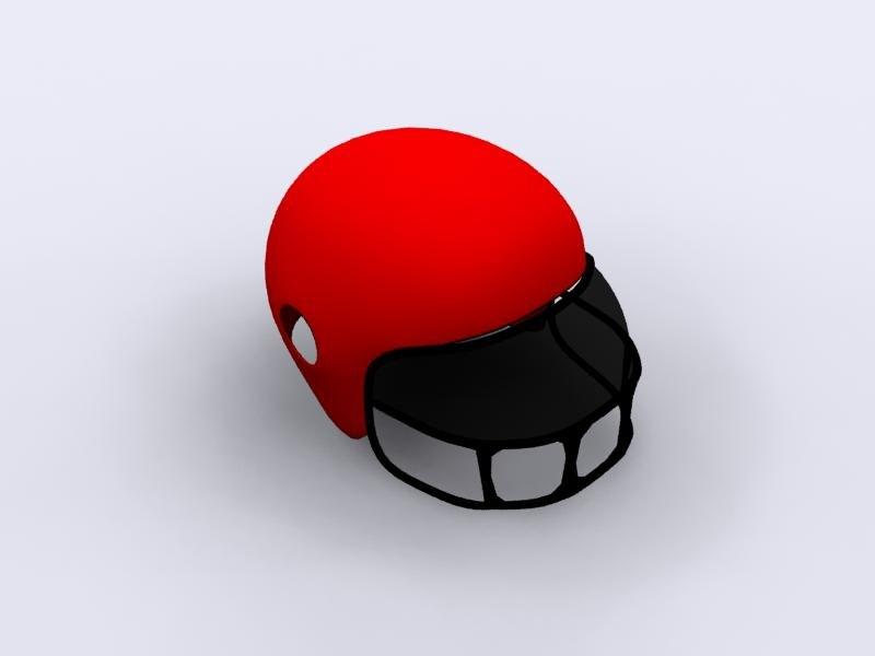3ds max football helmet visor