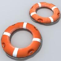 life ring preserver 3d model