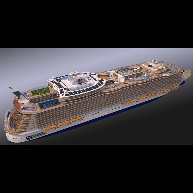 biggest cruise ship 3d max