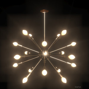 3dsmax realistic sputnik chandelier