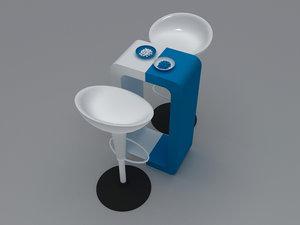 3d 3ds table bar stool