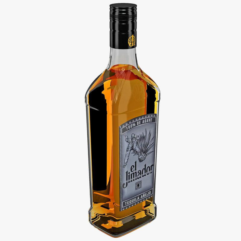 tequila bottle el jimador 3d 3ds