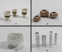 interior - vases vol 3d model
