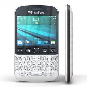 3d blackberry 9720 samoa white