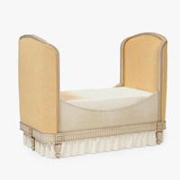 3d restoration hardware belle upholstered