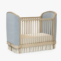 Restoration Hardware Belle Upholstered Crib 02