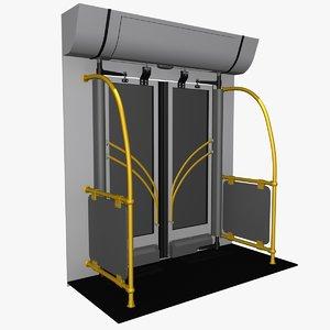bus door animations max