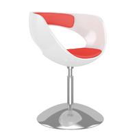 White-Red Hocker Chair