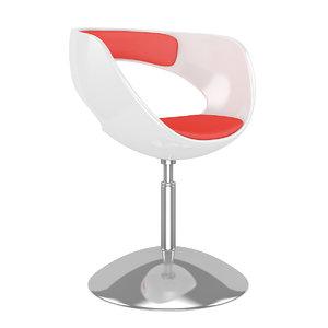 white red hocker 3d model