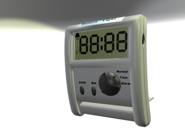 small alarm clock 3d model