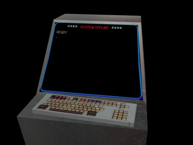 free console computer 3d model
