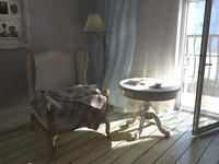 free obj mode armchair vintage
