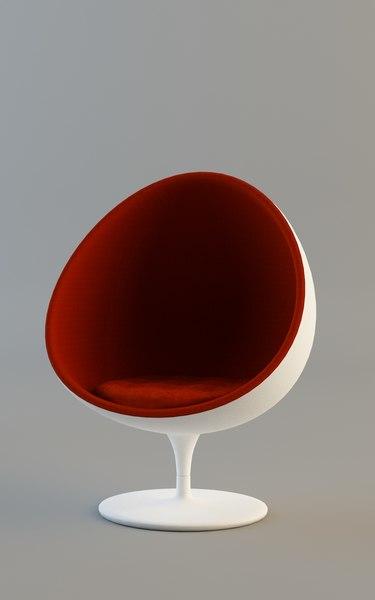 egg chair 3d model