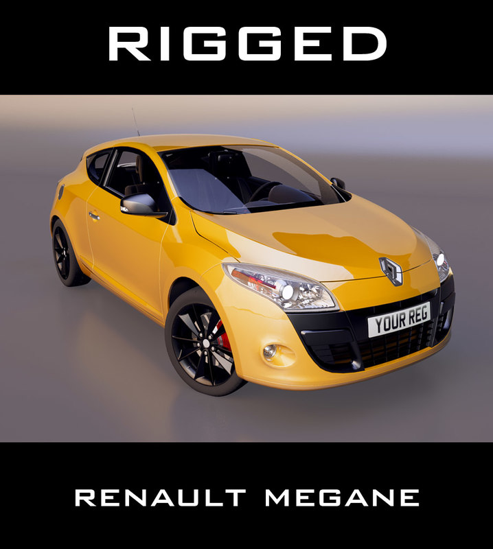 3d renault megane coupe model