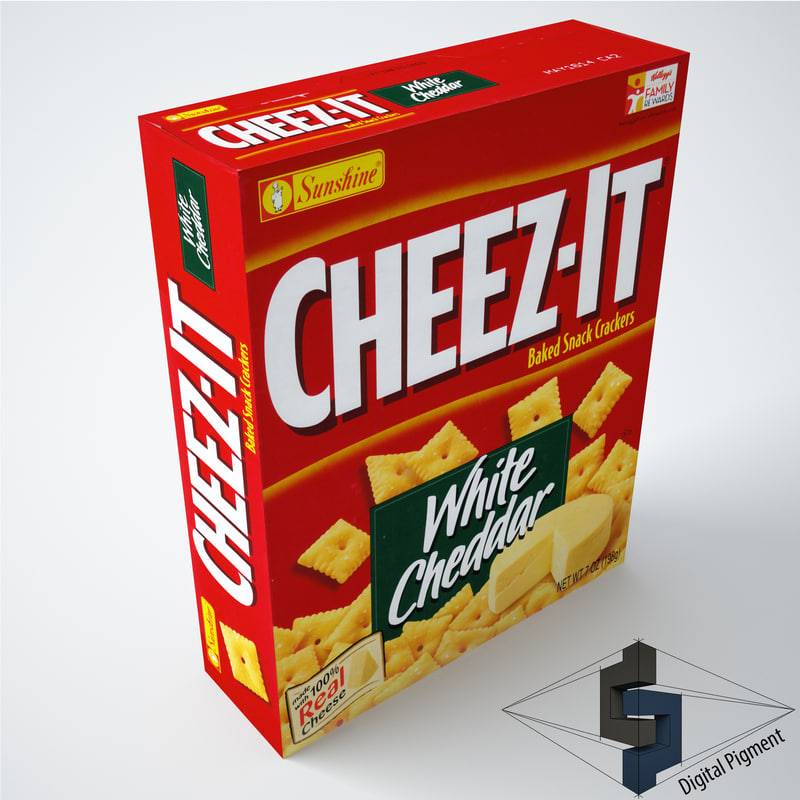 free cheez-it white cheddar snack 3d model