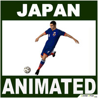 Soccer Player Japan CG