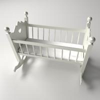 baby cradle 3d model
