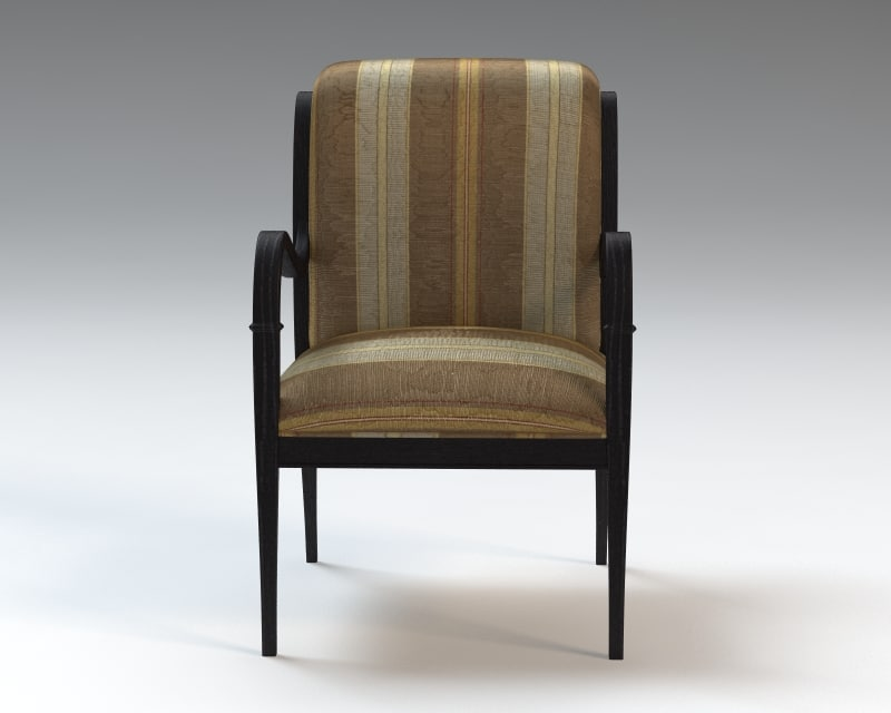 arm chair upholstered seat 3d model