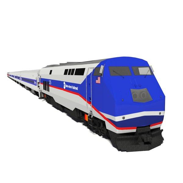 metro-north train locomotive 3d obj