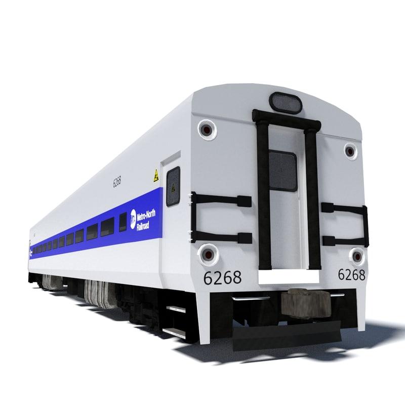 3dsmax metro-north train wagon 1
