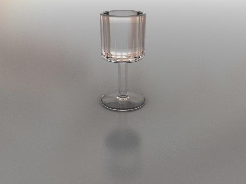 3d 3ds shot glass