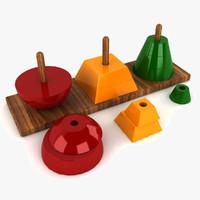 3d toy shapes